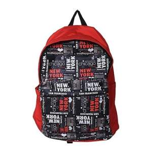 Polyester School Bag - Red NY