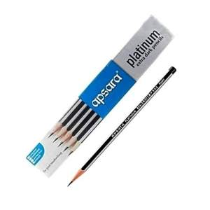 Apsara Platinum Pencil, ExtraDark - 2B