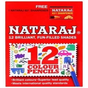 Nataraj Classic Color Pencil - 12 Pcs (Small/Short)