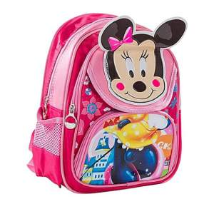 Polyester School Bag - Mickey Pink