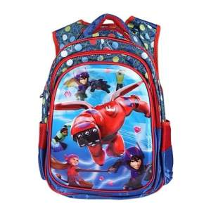 Polyester School Bag - Red & Blue