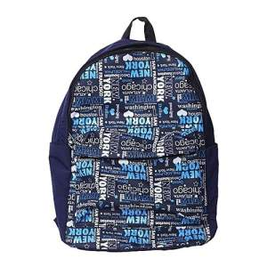 Polyester School Bag - Blue NY