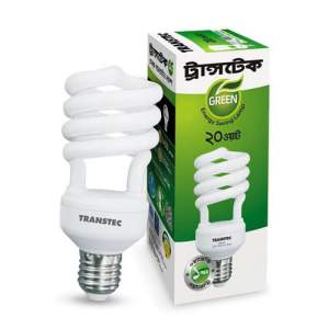 Transtec Green CFL Energy Saving Light-20 watt