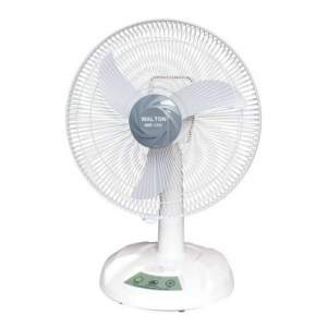 "Walton WRF 1703 Rechargeable Fan, 17"", Approx. 12 Hours Charging Time, Wth Night light & Remote Control"